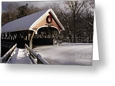 Flume Covered Bridge - Lincoln New Hampshire Usa Greeting Card