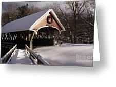 Flume Covered Bridge - Lincoln New Hampshire Usa Greeting Card