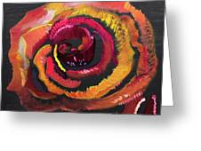 Fluorescent Rose Greeting Card
