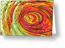 Fluorescent Wormhole Greeting Card by Shawna Rowe