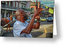 Flute Musician In New Orleans Greeting Card