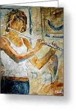 Flutist Greeting Card