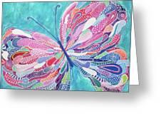 Fluttering Jewel Greeting Card
