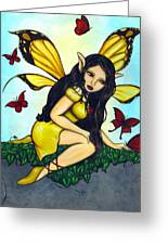 Fluttering Visitors Greeting Card