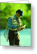 Fly Fisher II Greeting Card