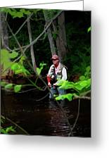 Fly Fisher Greeting Card