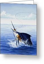 Fly Fishing For Sailfish Greeting Card