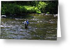 Fly Fishing In New York Greeting Card