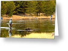 Fly Fishing On The Madison Greeting Card