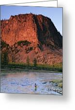 Fly Fishing On The Madison River Greeting Card by Drew Rush