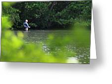 Fly Fishing Smithtown New York Greeting Card