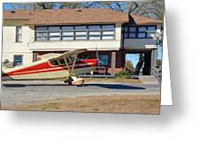 Fly In To The Beaumont Hotel And Cafe Greeting Card