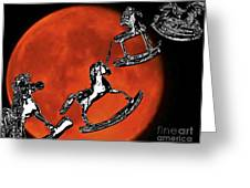 Fly Me To The Moon Greeting Card