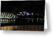 Flyer Night View Greeting Card