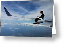 Flying 3rd Class Greeting Card