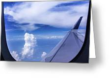 Flying Above The Clouds Greeting Card