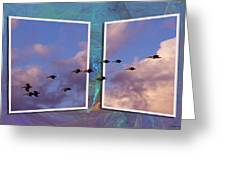 Flying Across Greeting Card