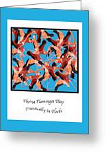 Flying Flamingos Greeting Card