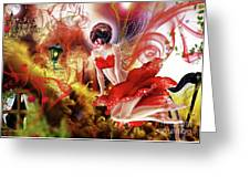 Flying Flower.. Eve Greeting Card