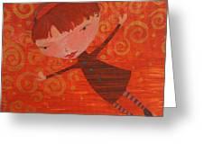 Flying Fredericka Greeting Card