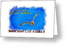 Flying Gull Greeting Card