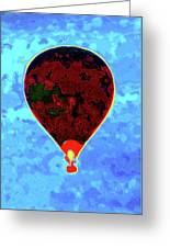 Flying High - Hot Air Balloon Greeting Card