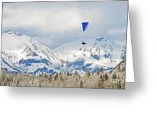 Flying High In Kandersteg, Switzerland Greeting Card