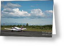 Flying In Alaska Greeting Card