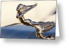 Flying Lady Hood Ornament Greeting Card