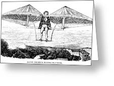 Flying Machine, 1807 Greeting Card