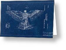 Flying Machine 1889 - Blue Greeting Card