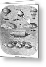 Flying Machines, 1856 Greeting Card