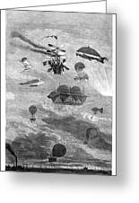 Flying Machines, 1864 Greeting Card