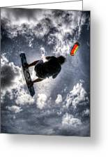 Flying  Greeting Card by Nick  Shirghio