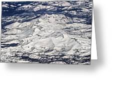 Flying Over Colorado Rocky Mountains Greeting Card