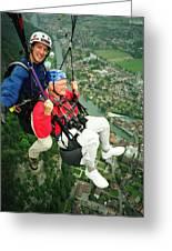 Flying Over Interlaken Greeting Card