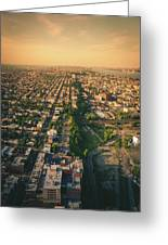 Flying Over Jersey City Greeting Card