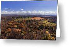 Flying Over New Milford Greeting Card