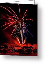 Flying Prom Fireworks Greeting Card