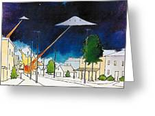 Flying Saucer Attack Greeting Card