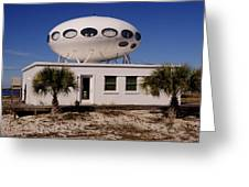 Flying Saucer House Greeting Card