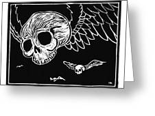 Flying Skulls Greeting Card