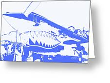 Flying Tiger Blue Greeting Card