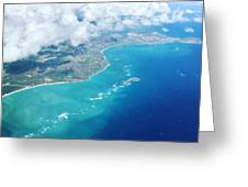 Flying To Paradise Greeting Card