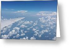 Flying To Toronto, July 2014 Greeting Card