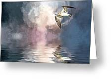 Flying Towards The Light Greeting Card