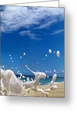Foam Burst -  Triptych - 3 Of 3 Greeting Card