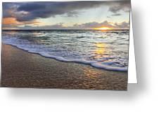 Foam Sunset Greeting Card