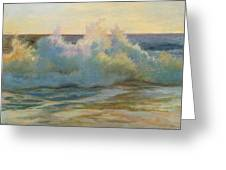 Foaming Waves At Beach Greeting Card