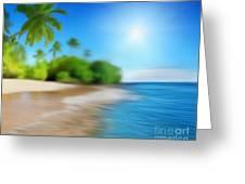 Focus On Palm Tree Greeting Card